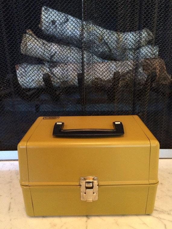Vintage Metal Box Kenco Movie Film Library Chest   8MM Storage   Mustard  Yellow From YesterdayFoundDotCom On Etsy Studio