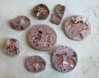Featured - Steampunk supplies - Watch movement parts - Vintage Antique Watch parts Steampunk - Scrapbooking g99