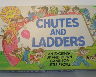 Vintage Chutes and Ladders Milton Bradley 1979 Complete with Game Pieces!