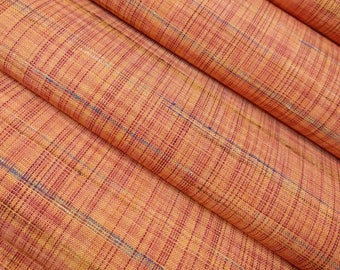 Vintage, woven orange tone wool blend kimono fabric - by the yard