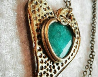 Heart in Turquoise agate