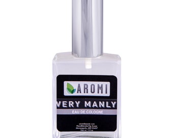Very Manly Cologne.  Men's Cologne.  Manly Cologne.  Men's Fragrance.  Manly Cologne.  Liquid Cologne.  Father's Day Gift.