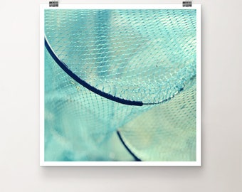 FishTrap - FineArt Print Nature Sea Ocean Harbour Fishing Net Summer Water Seaside