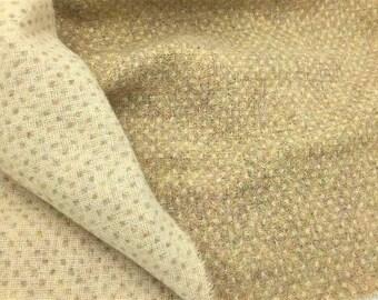 Crème Beige - verges de tissu en laine feutrée en 100 % laine dans une Cour de quart huitième ou Fat Fat