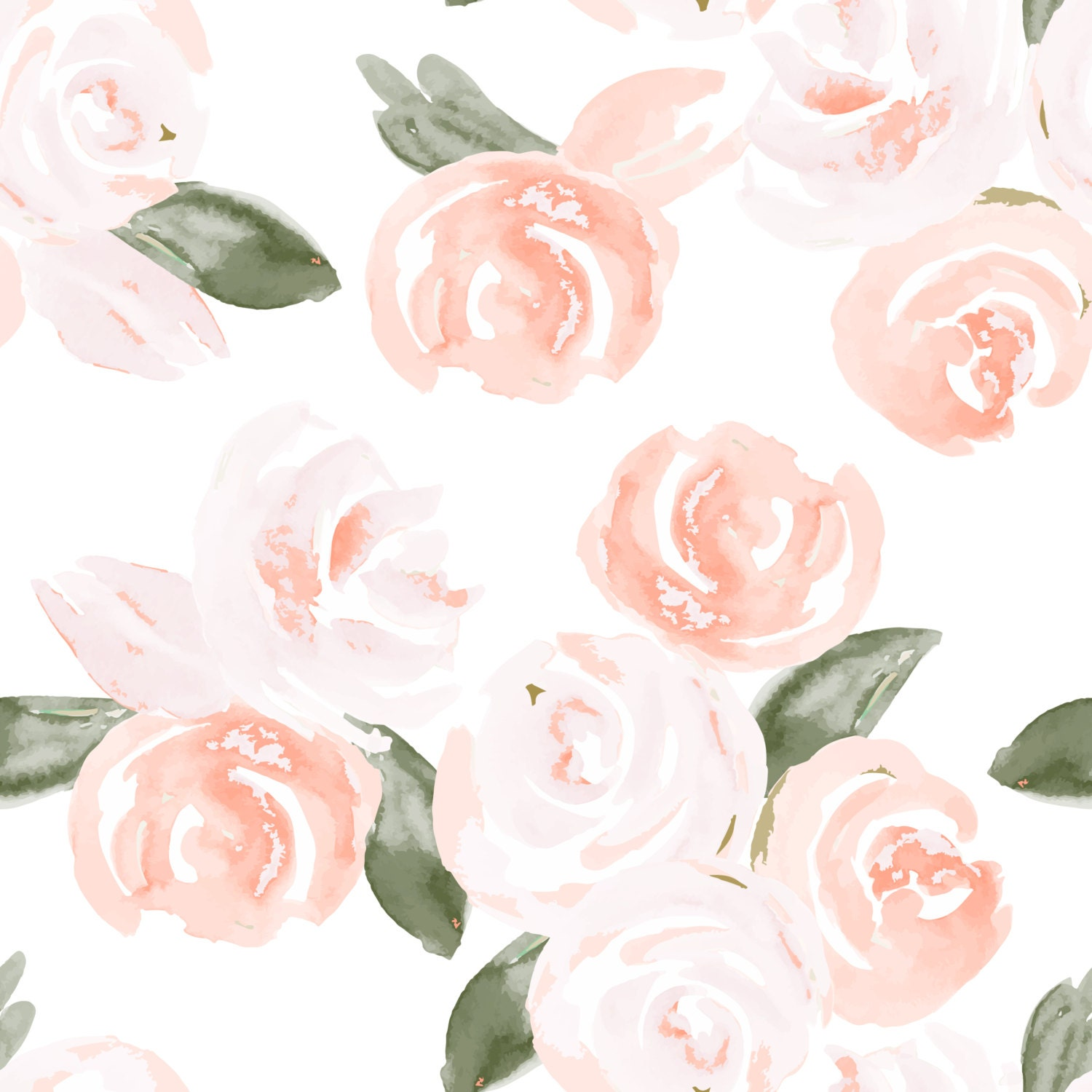 Computer Wallpaper Floral: Removable Wallpaper Floral Watercolor Design