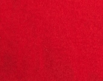 Anti Pill Solid Color Fleece Fabric by the yard - Red