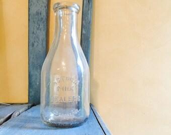 Astoria Vintage Glass Milk Bottle