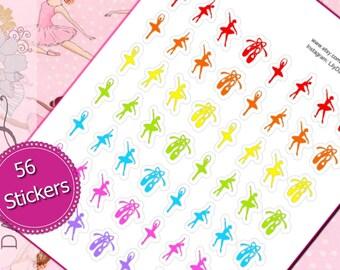 56 Ballerina Dance Planner Stickers for Erin Condren Life Planner (ECLP) Reminder Sticker LDD1075