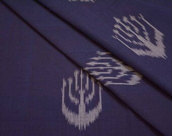 Navy Blue Ikat Fabric By The Yard