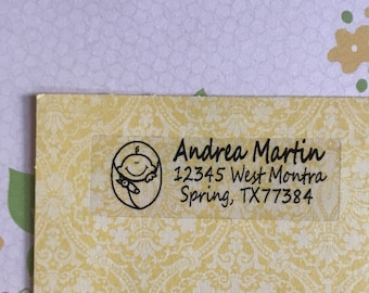Baby shower address labels set of 50