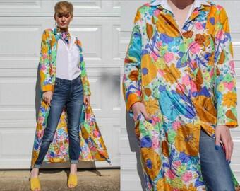 70s Flower Power Duster Robe