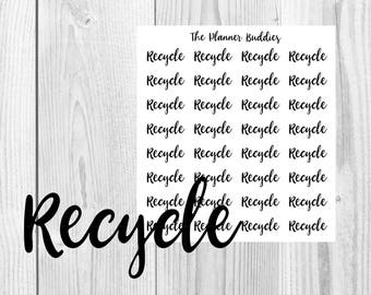 Recycle, Be Green, Environmentally friendly, Functional Stickers, Planner Stickers