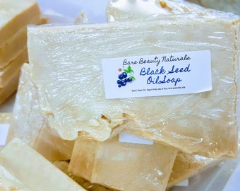 Black Seed Oil Soap - // FREE Exfoliating Soap Bag // Hydration // Crown Chakra