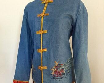 Hearts of Palm Denim Jacket Oriental