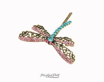 Dragonfly hair clip, Coraline clip, bobby pin, barrette, hair pins