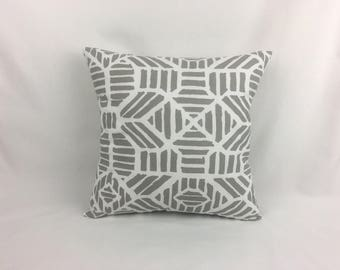 Couch Pillows - White and Grey Couch Pillow Cover - Decorative Sofa Pillows 0044