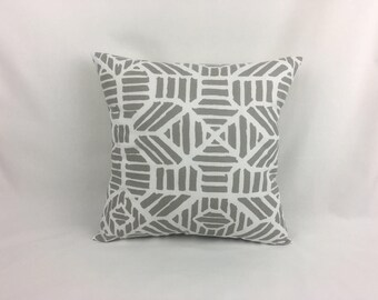 Couch Pillows   White And Grey Couch Pillow Cover   Decorative Sofa Pillows  0044