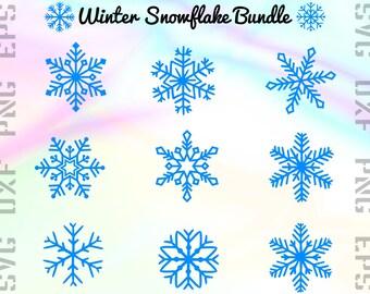 Snowflake SVG Files - Snowflake Clipart - Snowflake Cricut Files - Snow Dxf Files - Snow Cut Files - Snow Png - Svg, Dxf, Png, Eps Vectors