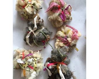 Raggedy Wool Bird Balls
