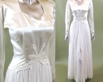 New Hope wedding gown   vintage 1940s wedding dress   40s wedding dress