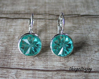 Earring-wires-frozen in turquoise