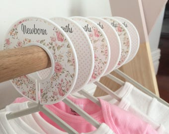 Nursery Wardrobe Dividers Isla,baby shower, new parents,baby girl,organisers
