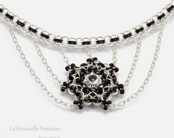 Chainmaille //  Crew neck // Swarovski cristal