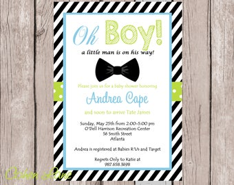 Bow tie baby shower etsy bow tie baby shower invitation little man party invitation digital invite bowtie invite filmwisefo