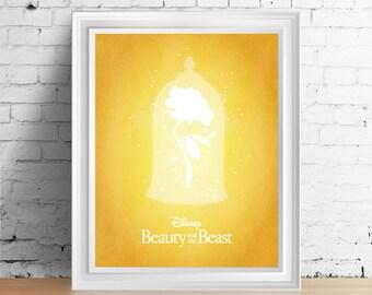 Disney Beauty and the Beast downloadable digital art print