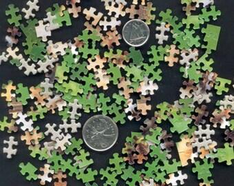 Teeny, Tiny Jigsaw Puzzles - Artist Trading Cards, Mixed Media, Handmade Cards