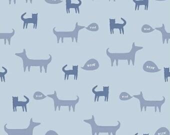 Cats & Dogs (Blue) - Neighbourhood - Alyson Beaton - Windham Fabrics - 1 Yard