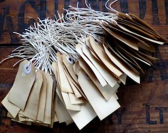 50 Plain Vintage Style Tea Dyed Gift Tags