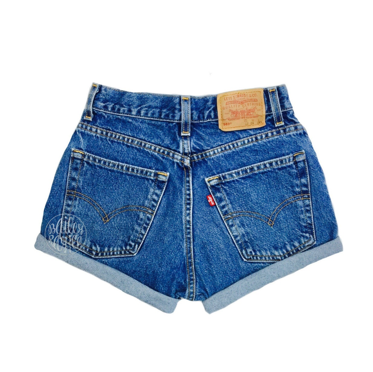 levis high waisted cuffed denim shorts rolled up denim shorts. Black Bedroom Furniture Sets. Home Design Ideas