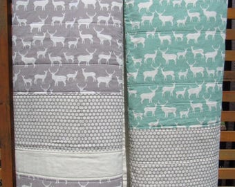 Handmade 100% Organic Cotton Elk Grove Collection Contemporary Quilt