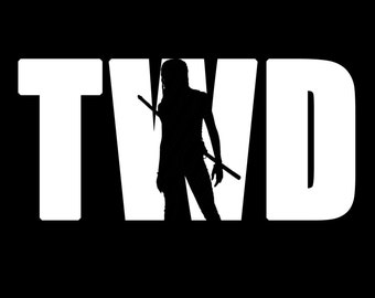 The Walking Dead with Michonne #2 Vinyl Sticker