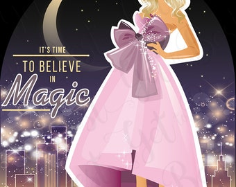 It Is Time To Believe In Magic, Vector art, Digital download,  PNG 300dpi, Digital illustration, Clipart