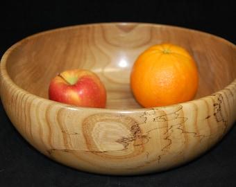 Large Elm bowl; Hand turned