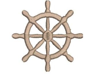 Ship Wheel Machine Embroidery Design, Boating, Sailing, Nautical, Pirate, Coordinates, Ocean, Beach, Sea Life