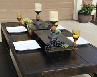 The Rusty-Modern Table Set- Parsons style table  made from Reclaimed Wood