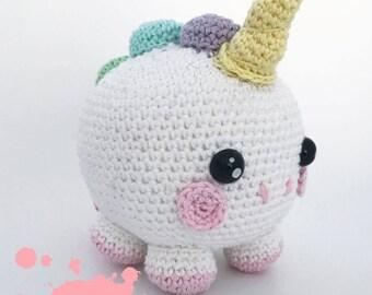 Bubble unicorn crochet pattern  english /dutch pdf