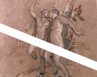 SALE Summertime Fauns Transgender Fauns Trans Love Queer Satyr Art LGBT Romance Felix dEon - Print
