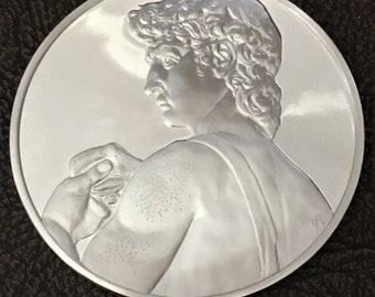 Michelangelo's David in Sterling Silver 66.17g