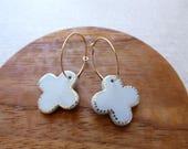 Cross Hoop Earrings...