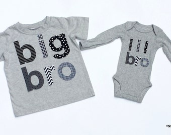 lil bro .... mid bro ... big bro... big sis ...Fabric Iron On Appliques ...Small lil bro Letters Now Available