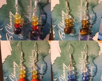 Earrings - Crystal Round ( .925 SS hooks)