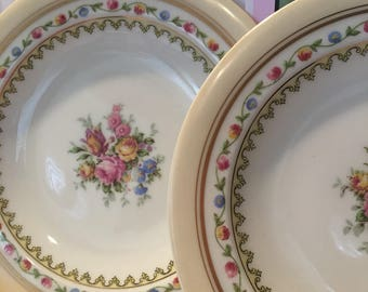 Limoges Plates, Limoges Small Plates, Limoges Dessert Plates, Limoges China Plates, China Plates with Roses, Set of 2