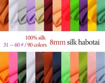 "8mm 100% mulberry silk silk habotai 45""width silk Lining of high grade clothing by half meter (31#--60#) DF973"
