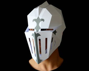 KNIGHT Armor Mask - Make your own Knight's helmet from card with this PDF download