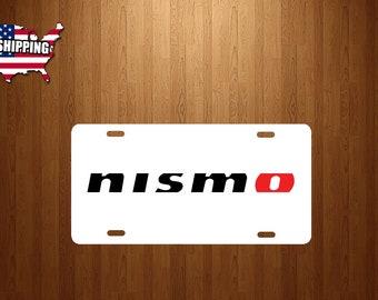 Nissan Nismo WHITE Aluminum License Plate truck tag jdm