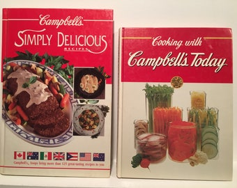 "Vintage Campbells Recipe Books - ""Simply Delicious Recipes"" and ""Cooking with Campbells Today"""